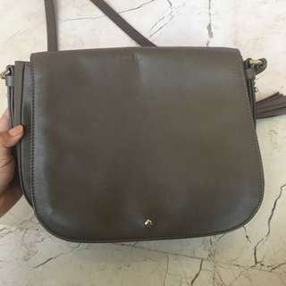 KATE SPADE chocolate selempang sling bag
