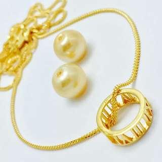 916 Gold Adult Necklace Set