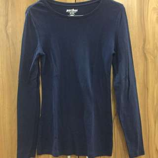 Kaos Navy Long Sleeve