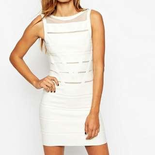 ASOS white bodycon dress