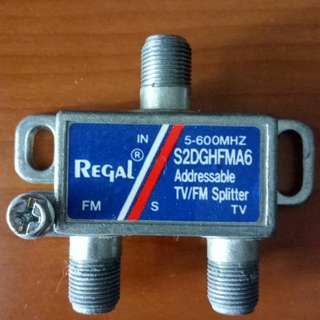 TV cable 1 input to 2 output