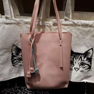 Shoulder Bag with Tassels by Miniso