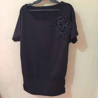 Black blouse for Large size
