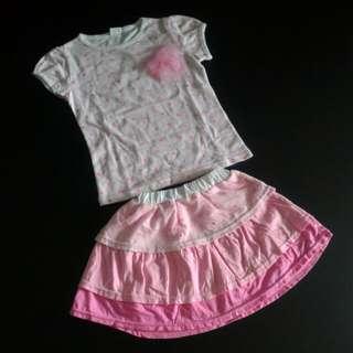 BN Girls Top & Skirt set