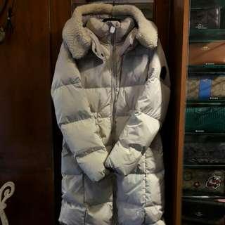 🚚 COACH氣質米白長版羽絨大衣