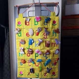 Kids Learning Chart Pockets (Fabric)