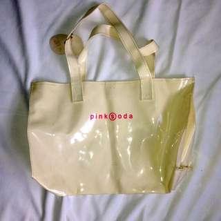 Pinksoda white handbag