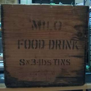 Vintage Milo Food Drink Wooden Crate