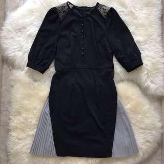 Little Black Dress with lacy shoulder