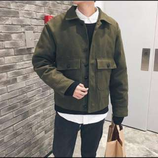 軍綠襯衫夾克XL