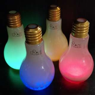 [Clearance sales] Light Bulb Bottle (Glass/Plastic) with LED light 500ml