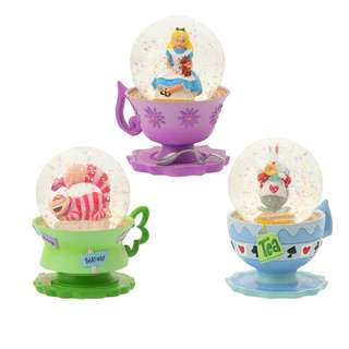 Japan Disneystore Disney Store 25th Anniversary Alice in the Wonderland Snow Globe Set