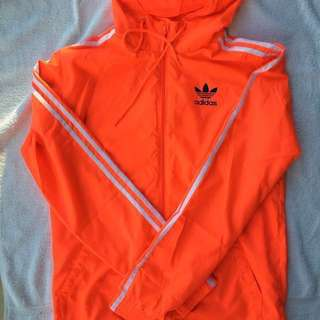 Adidas Orange Windbreaker Jacket