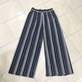 [Brand New] Navy Stripes Culottes