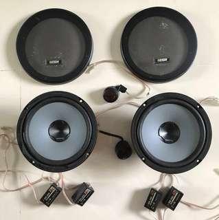 Hertz 2 way speakers