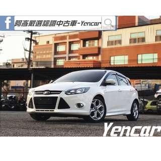 FB搜尋【阿彥嚴選認證車-Yencar】'14年Focus 2.0L、白、全額貸、中古車、二手車