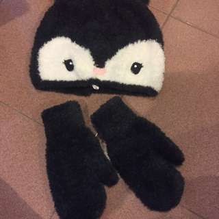 Winter Gloves & hat
