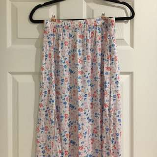 New Hollister Floral Print Maxi Skirt