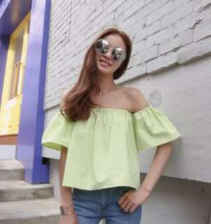 Lime off shoulder