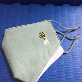 現貨供應 韓版男女立體口罩 藍綠色