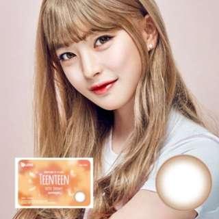 O-lens TeenTeen latte brown 韓國月con 一對