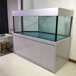 Brand new 6' x 3' x 2.5' tank with cabinet
