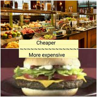 Enjoy your Hilton Hotel breakfast with price cheaper than at McDonald's.