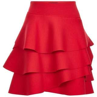 DKNY layered ruffle skirt
