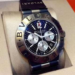Bvlgari Chronograph Automatic Mens Watch L4381 Full Set