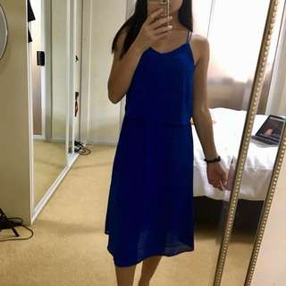 Amelius size 6 blue dress