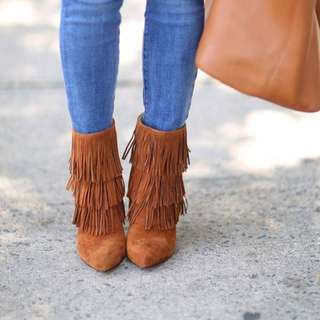Chinese Laundry Shoes for Kristin Cavallari Charm Fringe Bootie
