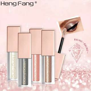 HengFang Brand 1pcs Glitter Eyeshadow Makeup Waterproof Shimmer and Shine Gold Silver Luminous Pigments Liquid Eye Shadow Stick
