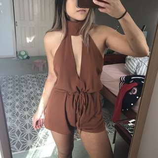 Rust Halter Playsuit