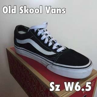 Old Skool Vans Sz 6.5