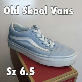 Old Skool Vans (light blue) Sz 6.5