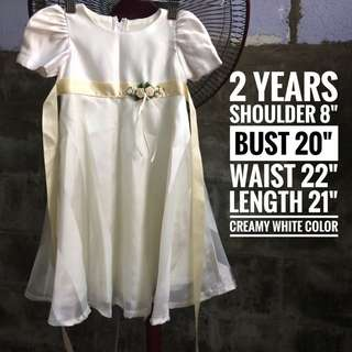Girl Dress Bride Wedding Birthday Baby Shower