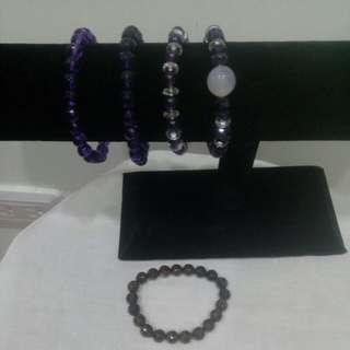 🚚 紫水晶,茶晶手鍊