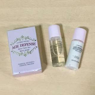 BNIB Set - Etude House Age Defense Skin Care Set