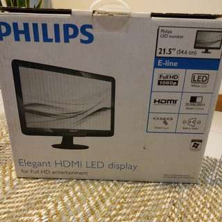 """Philips LED monitors x TWO 21.5"""" and twin monitor arm"""