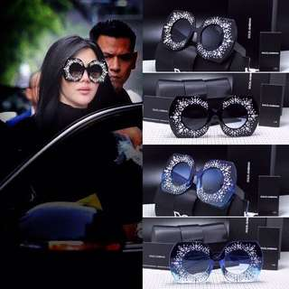 Sunglass D&G Over Size || Syahrini Style || Lensa Anti UV protection