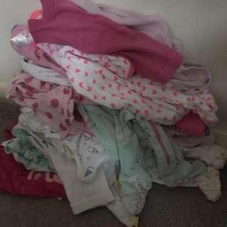Baby girl bulk clothes 0-12months