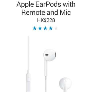 [20% off] (Original, Brand New) Apple earpods, suitable for iphone, ipad pro, ipad, ipad mini, ipod, imac, ipod shuttle, most other mobile devices, other tablets...etc. It control volume, play songs, receive calls.
