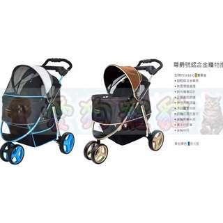 【愛狗寵貓】《免運》IBIYAYA 尊爵號鋁合金寵物推車 FS1616 奢華金