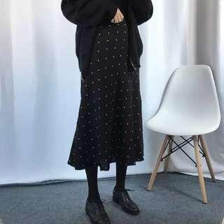 雪紡A字傘裙 黑