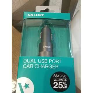 Valore dual USB port car charger