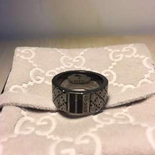 Authentic GUCCI Diamantissima Silver Ring 15.
