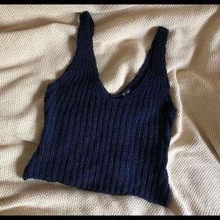 Bardot Knit Crop