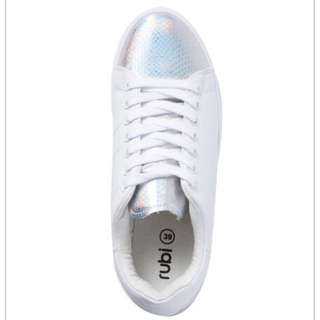 RUBI Sneakers, Holographic tip, Size 36