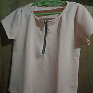 Blouse with Zipper