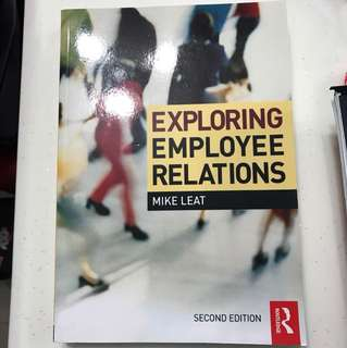 Exploring Employee Relationships textbook (like new)